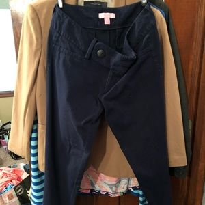 Lilly Pulitzer navy ankle length pants size 2